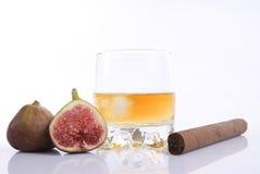 виски смокв сигары Стоковые Фото