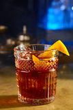 Виски с апельсином и льдом Стоковые Фото