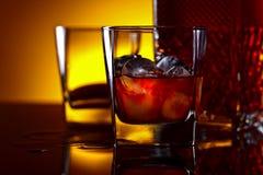 Виски с льдом Стоковая Фотография RF
