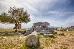 Висок акрополя, древнегреческия Стоковое Изображение RF