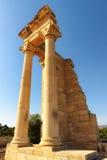 Висок Аполлона на заходе солнца, района Лимасола, Кипра Стоковые Изображения