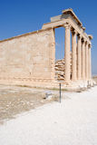 висок Афины акрополя старый Стоковая Фотография RF
