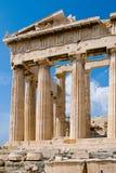 висок Афины акрополя Стоковое Изображение