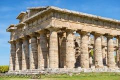 Висок Афины Minerva в Poseidonia Paestum, кампании, Италии стоковое фото