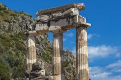 Висок Афины Pronea-Дэлфи-Греции Стоковые Изображения