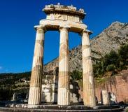 Висок Афины Pronoia на Дэлфи в Греции Стоковое Изображение RF