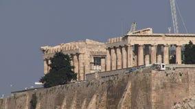 Висок Афин Греции сток-видео