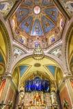 Висок алтара купола базилики Belen Гуанахуата Мексики Стоковые Фото
