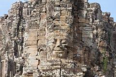 висок бога Камбоджи bayon angkor ся Стоковые Фото