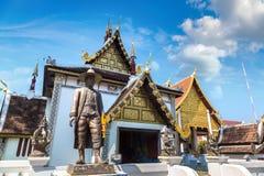 Висок буддистов в Чиангмае стоковая фотография