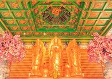 Висок Будды китайский на Wat Leng Noei Yi Nonthaburi, Таиланде Стоковое фото RF