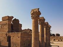 Висок виска Dendera Hathor в Египте Сохраненные столбцы Стоковая Фотография RF