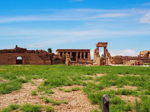 Висок виска Dendera Hathor в Египте Стоковые Изображения RF