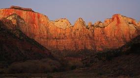 висок восхода солнца западный Стоковые Фото