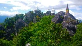Висок в горе Таиланде Стоковые Изображения