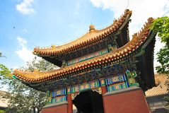 Висок в Пекине, Китай лама Стоковое Изображение RF