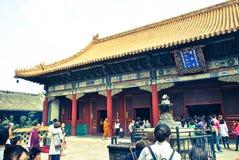 Висок в Пекине, Китай лама Стоковые Изображения RF
