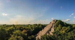 Висок в Юкатане, Мексика Майя Becan стоковое фото