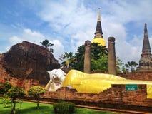 Висок в ayutthaya - Таиланде Стоковые Фотографии RF