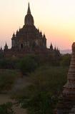 Висок в Bagan, Бирма Стоковые Изображения RF