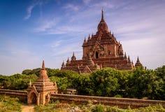 Висок в Bagan, Мьянме (Бирма) стоковые изображения rf