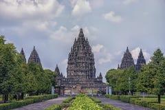 Висок в Java, Индонесия Prambanan стоковое изображение rf