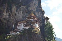 Висок гнезда тигра Бутана Стоковые Изображения RF