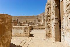 Висок города Habu - Египет стоковое изображение rf