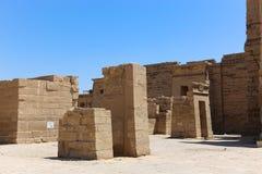 Висок города Habu на Луксоре стоковая фотография