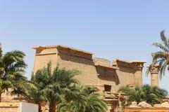 Висок города Medinet Habu или Habu - Египет стоковое изображение rf