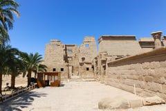 Висок города Medinet Habu или Habu - Египет стоковые изображения rf
