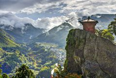 Висок горы Yamadera Стоковые Изображения RF