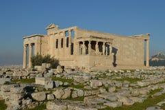 висок Греции erechtheum athens акрополя Стоковая Фотография