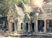 Висок губит столетие th XII, Siem Reap, Камбоджу, тонизируя стоковое фото rf