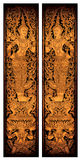 висок двери c002 тайский Стоковое Изображение RF
