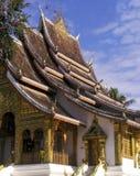 Висок дворца в prabang luang, Лаосе Стоковые Изображения RF