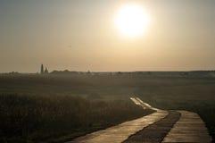 висок дороги к Стоковое Фото