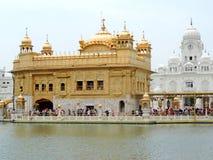 висок захода солнца amritsar золотистый Индии Стоковые Фотографии RF