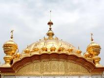 висок захода солнца amritsar золотистый Индии Стоковые Фото