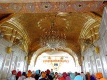 висок захода солнца amritsar золотистый Индии Стоковые Изображения RF