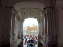 висок захода солнца amritsar золотистый Индии Стоковое фото RF