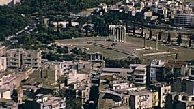Висок Зевса олимпийца сток-видео