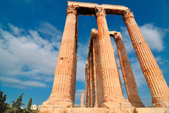 Висок Зевса олимпийца Стоковые Изображения