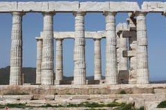 Висок Зевса, Sounion, Attica, Греция Стоковое Изображение RF