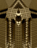 висок золота фантазии 3d Стоковые Изображения