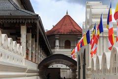 Висок зуба и королевского дворца - Канди, Шри-Ланки стоковые изображения rf