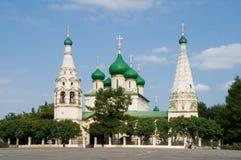 Висок Илии пророк в центре города Yaroslavl стоковые изображения rf