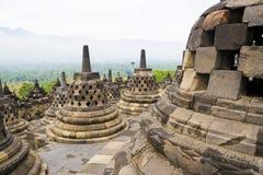 висок Индонесии borobudur стоковые изображения rf