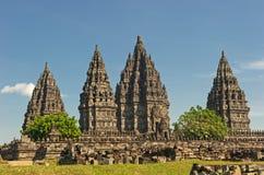 висок Индонесии java prambanan Стоковое Изображение