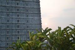 Висок и статуя Murudeshwar Shiva Стоковое Изображение